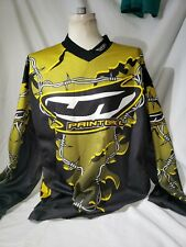 JT RACING Paintball Barbwire  Black/yellowMen's Jersey Shirt XL Vintage XL