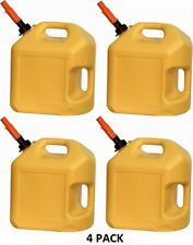 4 NEW MIDWEST CAN COMPANY 5 GALLON YELLO POLY DIESEL CANS - 8600
