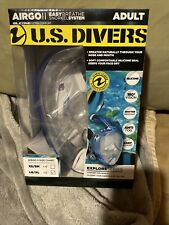 💥US Divers Airgo II Adult Full Face Snorkel Mask - LG/XL EasyBreathe System