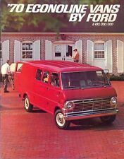Ford Econoline Vans 1970 USA market sales brochure