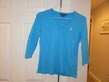 EUC!!  Ralph Lauren Sport Blue V-Neck 3/4 Length Shirt - Size Women's Small