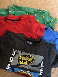 4* M&s/next Boys Superhero Tshirt Bundle 5-6