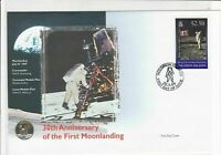 solomon islands 30th anniversary moon landing stamps cover 1999 ref 19471