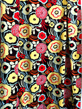 """Mocca Floral Fabric The Alexander Henry 43 W x  4 Yds + 25"""" L in 2 Pieces 2005"""