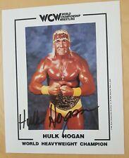 Hulk Hogan, autograph WCW Champion, WWF, hand signed, 1994