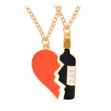 BFF Necklace Best Friend Necklaces Pendant Friendship Jewelry Charm 2 pieces PIC