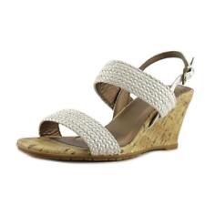Sandalias y chanclas de mujer de tacón medio (2,5-7,5 cm) de color principal blanco Talla 41