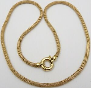 9ct yellow gold Italian necklace British hallmarked 18 inches Weighs 10.3 grams.