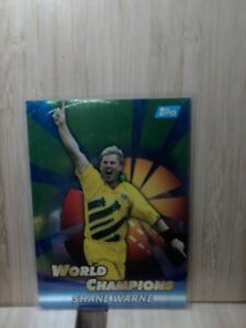 SHANE WARNE - World Champions🏆2002 #WC11 (FOIL) Topps ACB Gold Cricket Card🏆