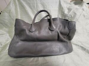 Mark and Graham Elisabetta Grey Leather Slouch Handbag Bag Purse