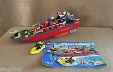 7906 Lego Complete Fireboat Working Motor minifigures instructions red fire