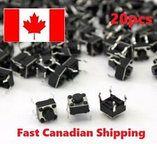 20 PCS 6x6x5mm DIP Through-Hole 4pin Tactile Push Button Switch Momentary