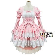 Rosa Stylish Mädchen Prinzessin Alice Lolita Cosplay Kleid Verkleidung Kostüm