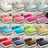 Solid Color Flat Fitted Sheet Bed Cover Coverlet Single Double Full Queen 5 Size