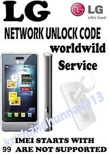 LG parmanent network unlock code for LG KM900G  - Virgin UK