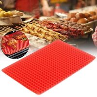 5 10Pcs Pyramid Pan Non Stick Fat Reducing Silicone Cooking Mat Oven Tray Sheets