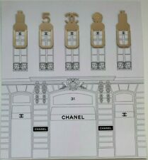 CHANEL VIP gift Parfume BookMark bookplate set in Metal gold Free postage in AU
