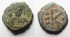 Zurqieh -as1726- As Found: Byzantine Maurice Tiberius half follis