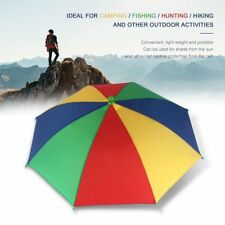 Multicolor Portable Umbrella Hat Cap Sun Rain Fishing Camping RY