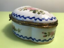 "ANTIQUE BEAUTIFUL HAND PAINTED FRENCH PORCELAIN TRINKET BOX ""SÈVRES"" 18th C."