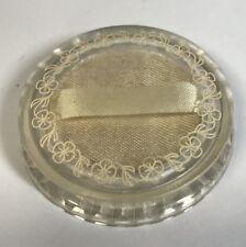 Vintage M. JAMES HENNEN JEWELER Plastic RING CASE Waynesburg PA Jewelry Box