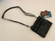 Leather mini bag multi pockets, crossbody, adjustable & detachable strap, Black