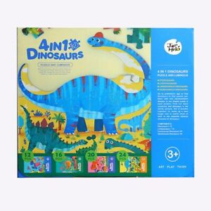 Luminous Dinosaur Puzzles Set Of Four Glow In The Dark By Jar Melo