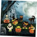 8 Pieces Halloween Yard Signs Vintage Lawn Decorations with Stakes Sturdy