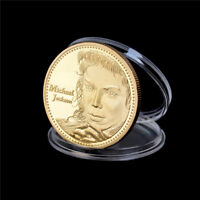 The King of Pop Michael Jackson Commemorative Coins Gold Plated Coin Souvenir HU