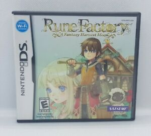 Rune Factory A Fantasy Harvest Moon - Nintendo DS - Complete in box - US version