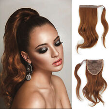 8-12 Inch Short Wavy 100% Remy Human Hair Wrap Around Ponytail Extension 60g