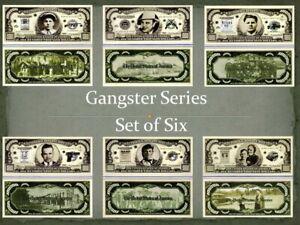 Gangster Series Set of six Million Dollar Novelty Money