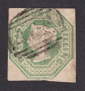 Great Britain 1847-54  1/- green S.G.55 used