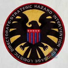 Marvel SHIELD Logo Embroidered Big Patch Comics Avengers Agency Nick Fury Agents