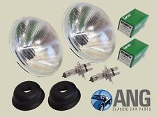 "AUSTIN HEALEY 100, 3000 BN1-BJ8 H4 HALOGEN 7"" HEADLAMPS & BULBS x 2 (NO PILOT)"