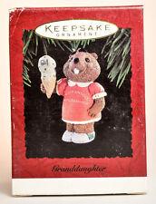 Hallmark: Granddaughter - Beaver with Ice Cream Cone - 1994 Keepsake Ornament