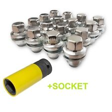 LAND ROVER DISCOVERY 3 & 4 NEW 22MM STAINLESS WHEEL NUTS, NUT SET (X16) + SOCKET