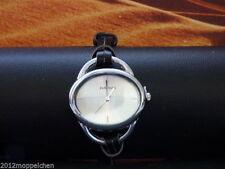 Ovale Armbanduhren mit Kunstleder-Armband und Chronograph