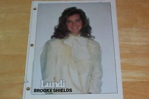 BROOKE SHIELDS CLIPPING - PIN UP - VINTAGE 1980s