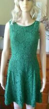 Princess Highway green lace fit and flare dress size 8 FREE POST