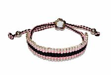 """CANDY BLING"" Sterling Silver & Pink Cord Friendship Bracelet (RRP £85)"