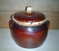 """Small Hull Oven Proof Brown Drip Crock 3"""""""