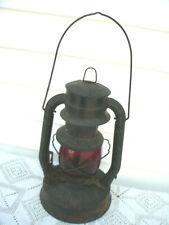 Vintage Antique Dietz Lantern--No.2---Red Glass--Needs TLC
