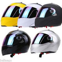 Full Face Motorcycle Helmet Dual Visor Street Bike+ Colorful Shield M - XXL