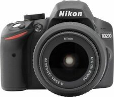 Nikon D D3200 24.2MP Fotocamera Reflex Digitale-Nero (Kit Con AF-S DX VR lente 18-55 mm)