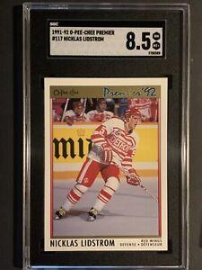 1991-92 O-Pee-Chee Premier Red Wings HOF Nicklas Lidstrom RC #117 OPC SGC 8.5