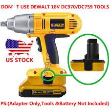 Dewalt 18V Ni-CD Tools DCA1820 Adapter Uses 20V MAX Li-Ion Battery-Adapter Only