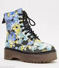 Zip Floral Synthetic Boots for Women