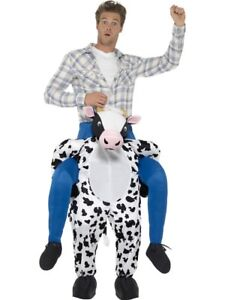 Cow Piggy Back Ride On Me Mascot Mens Fancy Dress Carry Costume Stag Do