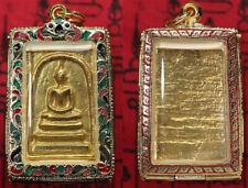 Brass Phra Somdej Luang Phor Toh Wat Rakang Rare Thai Amulet Pendant Casing.